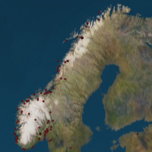 [map of schools in norway]